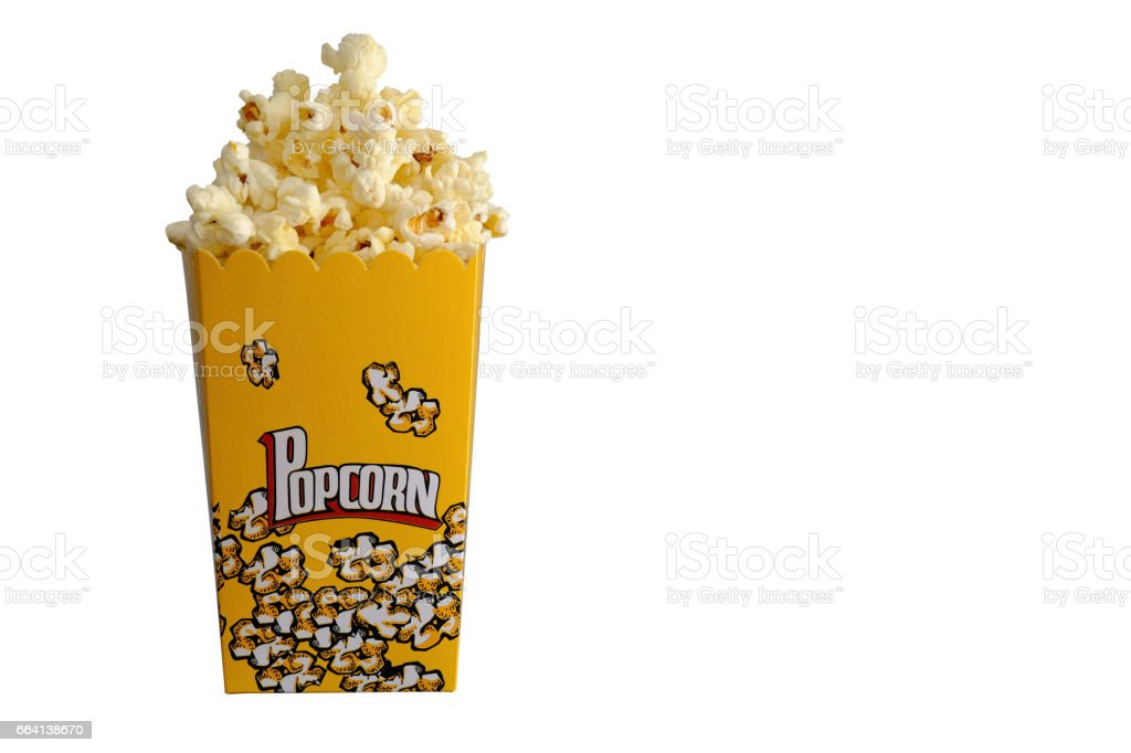 isolated popcorn foto stock royalty-free