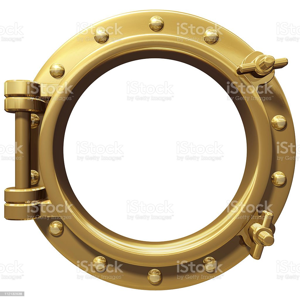 Isolated porthole stock photo