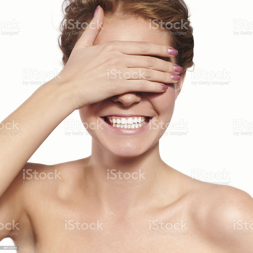 Isolated portrait of a smiling yoiung woman royalty-free stock photo