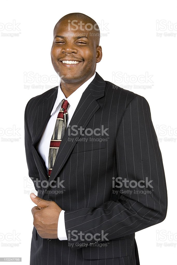 Isolated Portraits-African American Male Businessman royalty-free stock photo