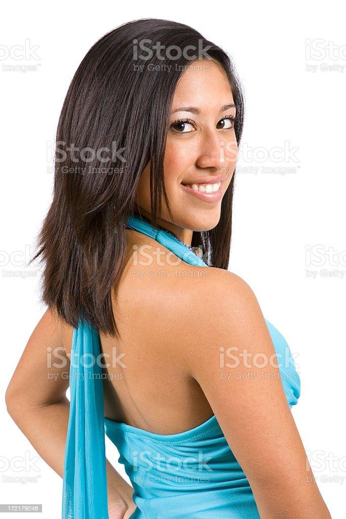 Isolated Portraits-Beautiful Young Hispanic Girl royalty-free stock photo