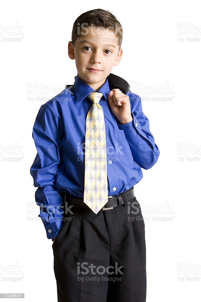 Isolated Portraits-Little Businessman stock photo