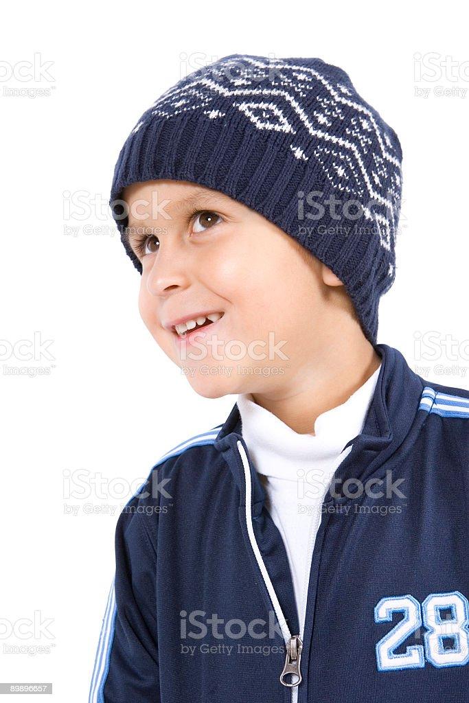 Выделение Portriats-молодой мальчик Стоковые фото Стоковая фотография