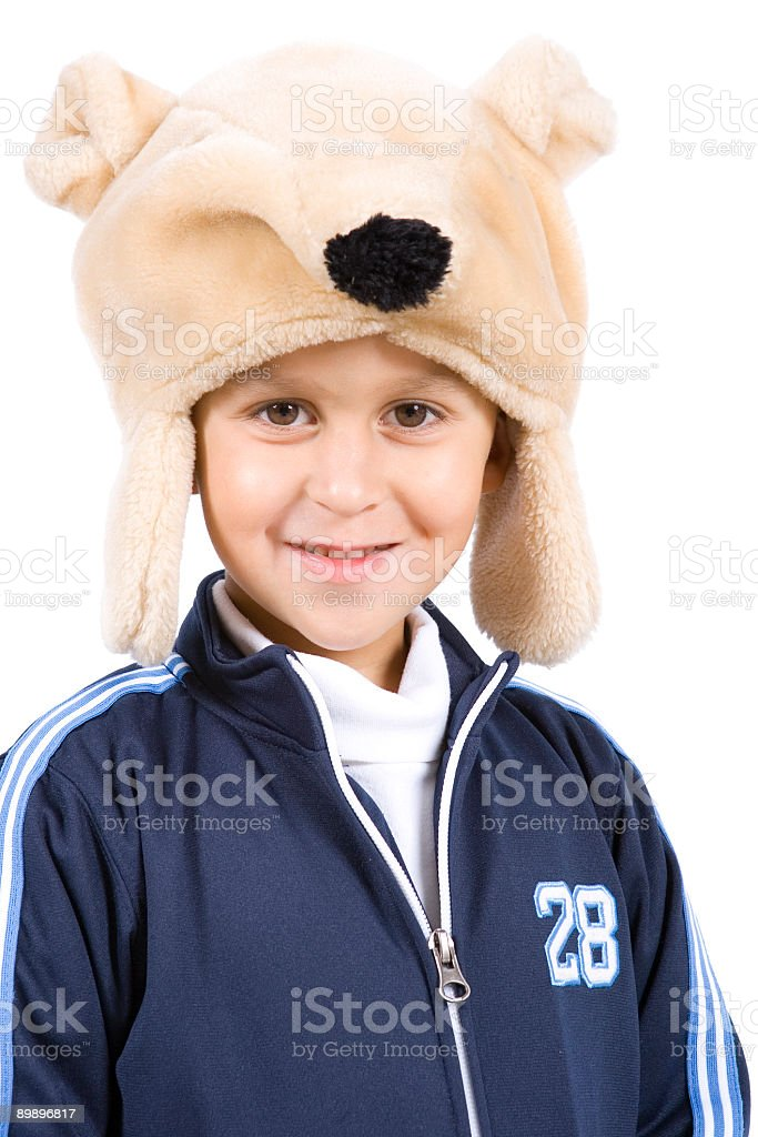 Isolated Portriats-Young Boy royalty-free stock photo