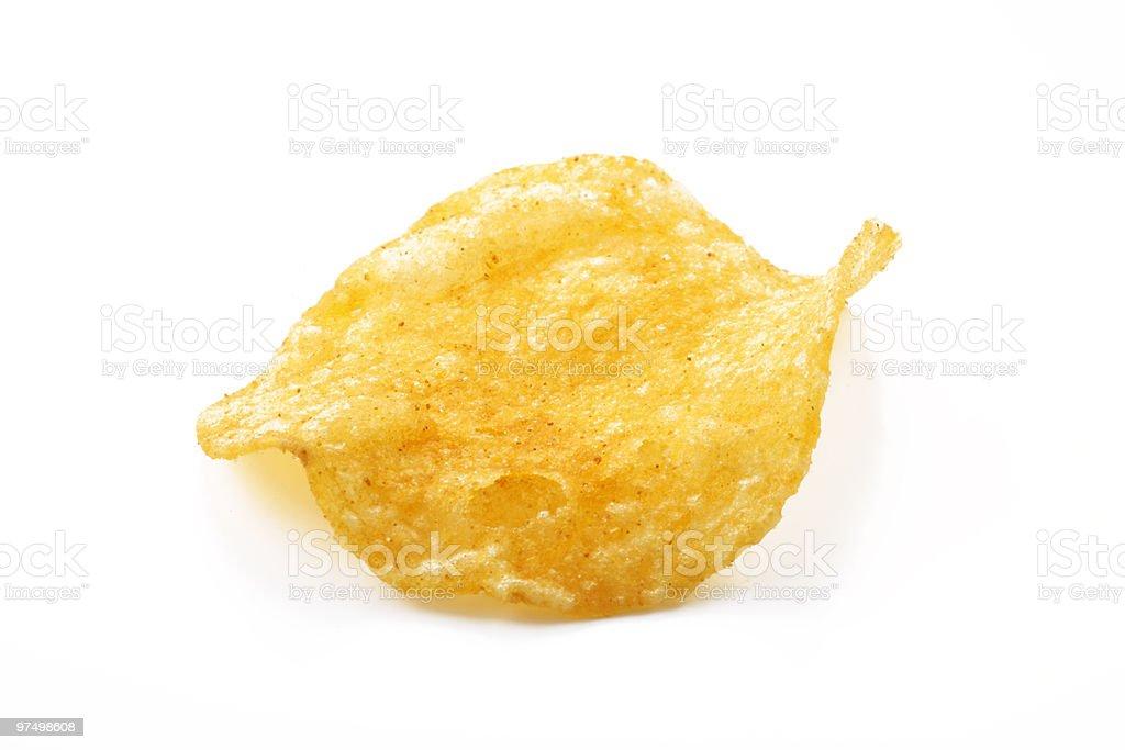 Isolated potato crisps royalty-free stock photo