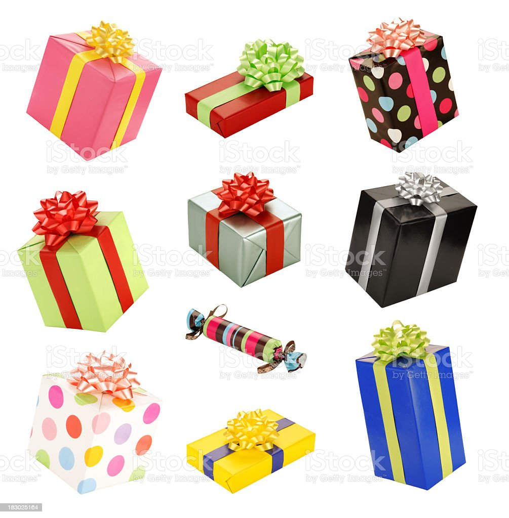 Isoliert, Geschenke, Geschenke Collection Angebot – Foto