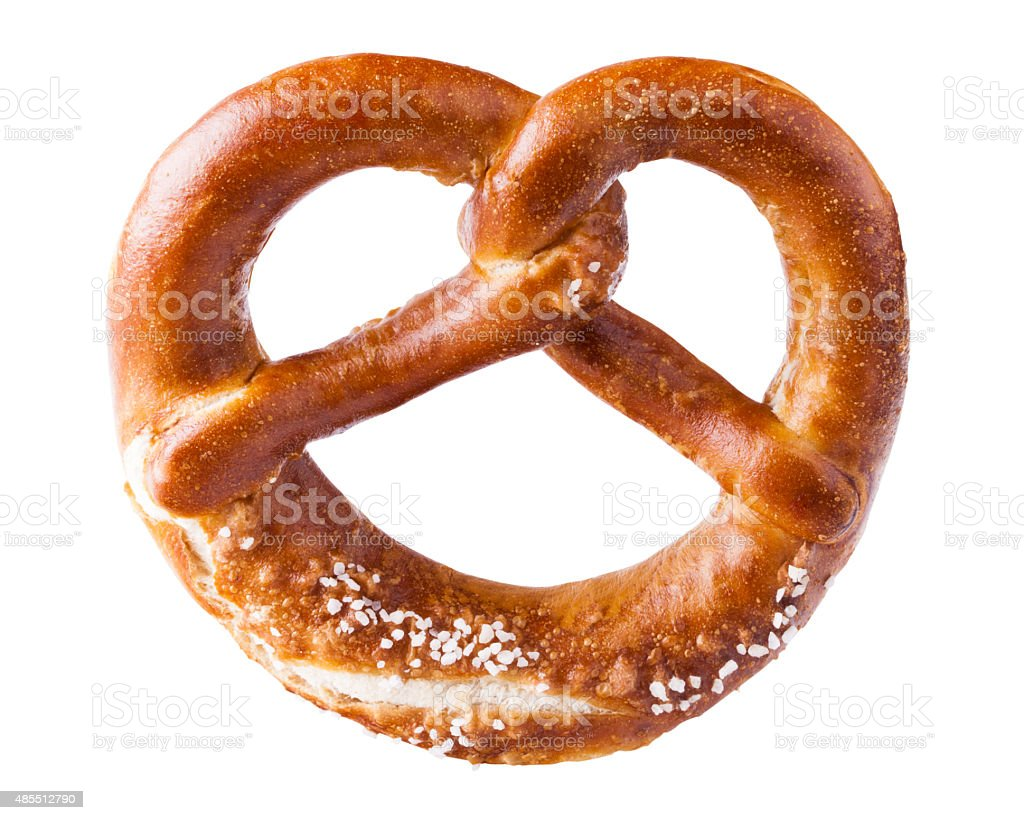 isolated pretzel stock photo