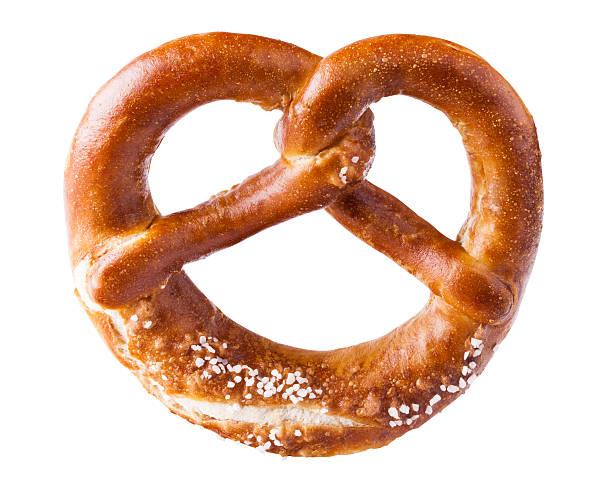 isolated pretzel - 椒鹽蝴蝶圈 個照片及圖片檔