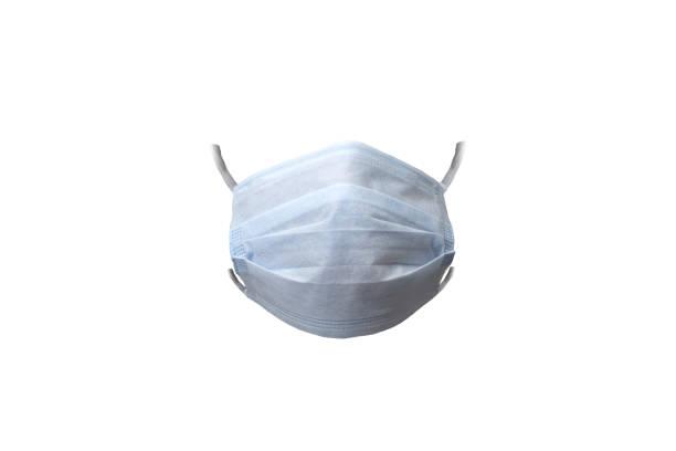 Isolated protective face mask on white background stock photo