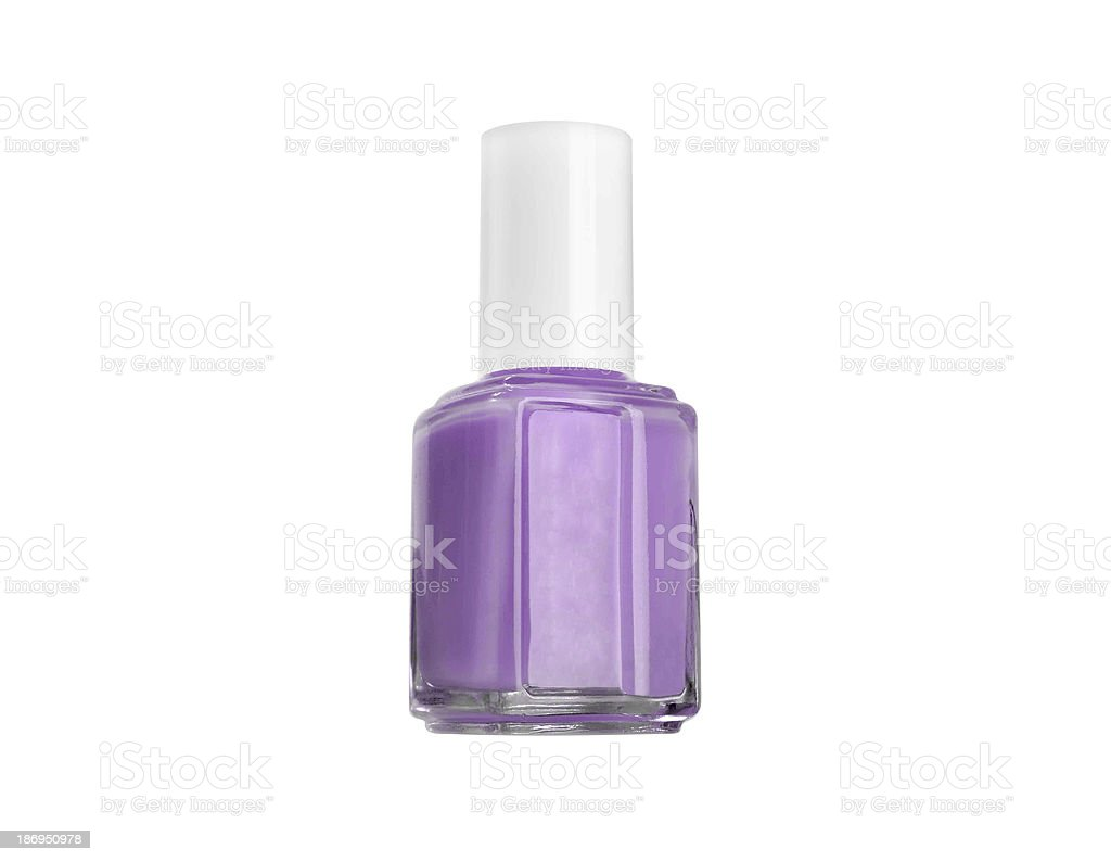 Isolated purple Nail Polish dripping royalty-free stock photo