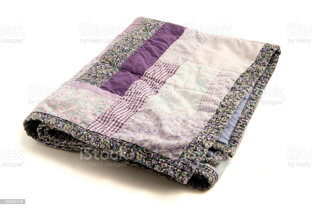 Isolated Purple Quilt royalty-free stock photo