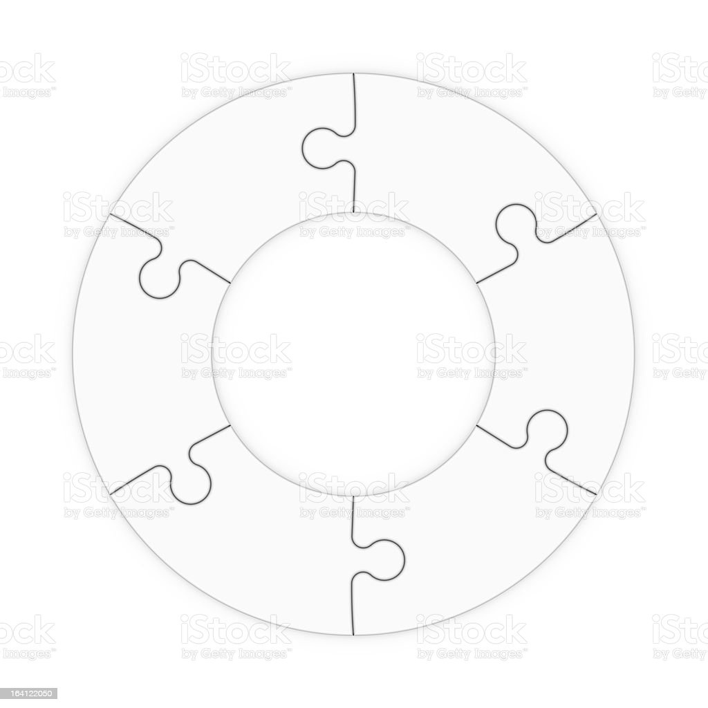 isolated puzzle pieces to place concepts royalty-free stock photo