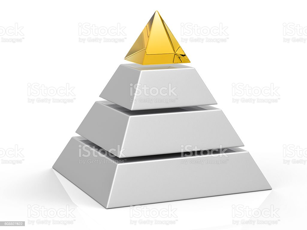 3D Isolated Pyramid Background stock photo
