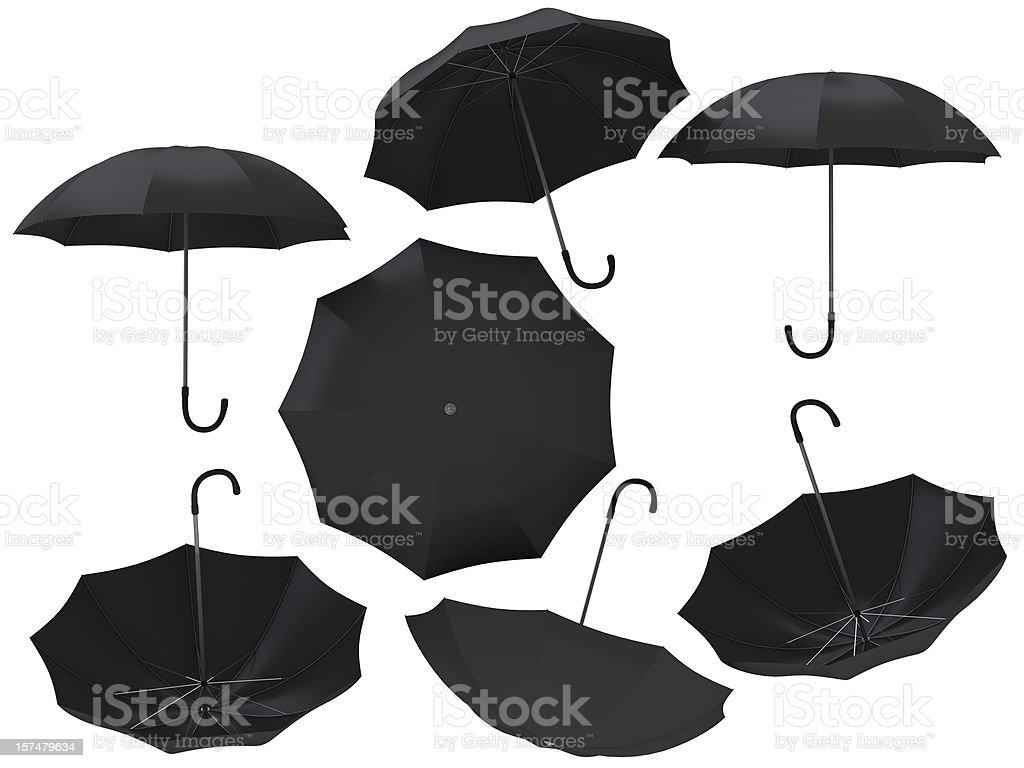 Isolated Rain Umbrella royalty-free stock photo