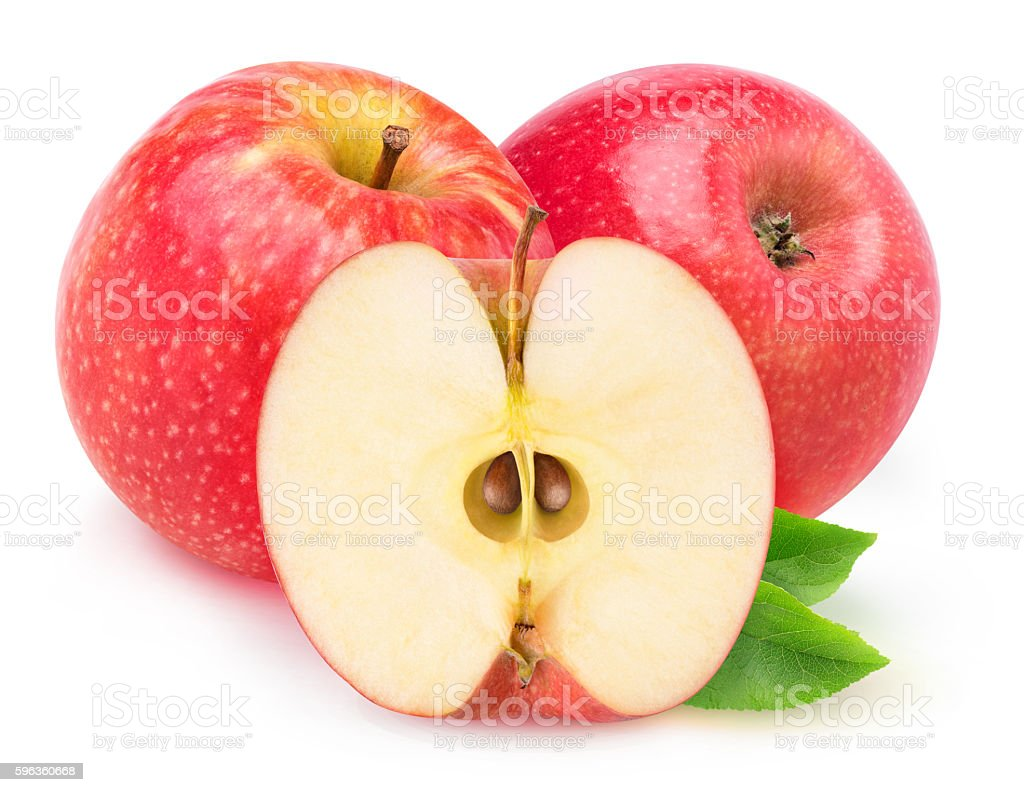 Isolated red apples royalty-free stock photo