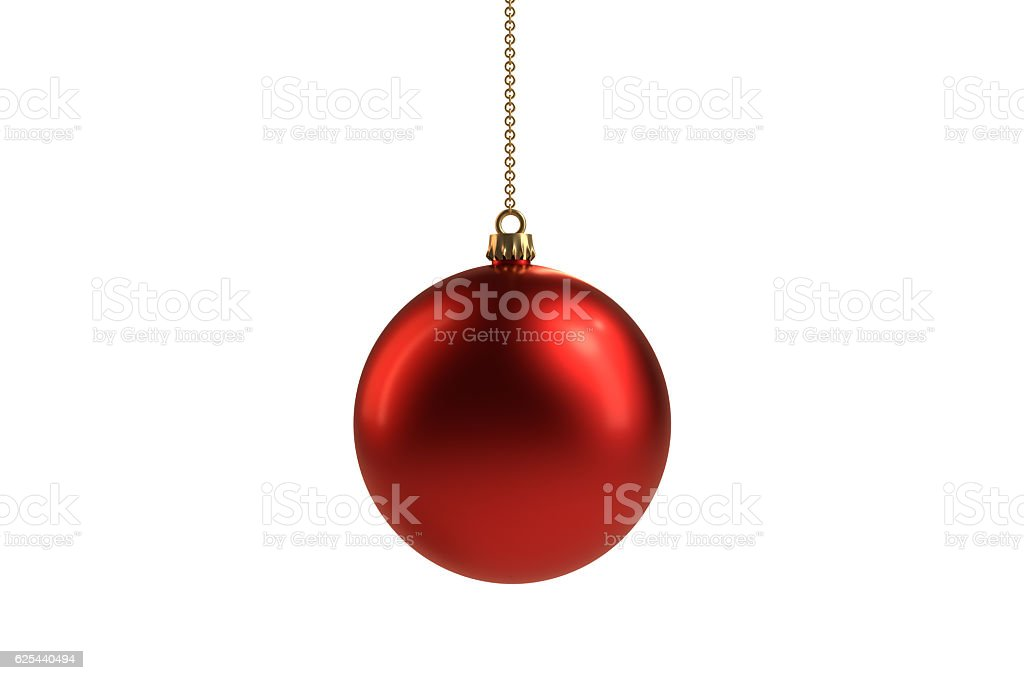 Isolated Red Christmas ball ornament – Foto