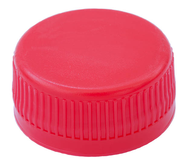 isolated red plastic cap - plastic cap stock pictures, royalty-free photos & images