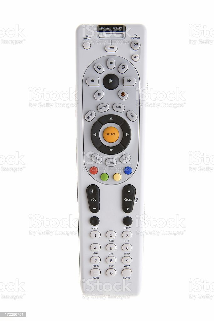 Isolated Remote Control royalty-free stock photo