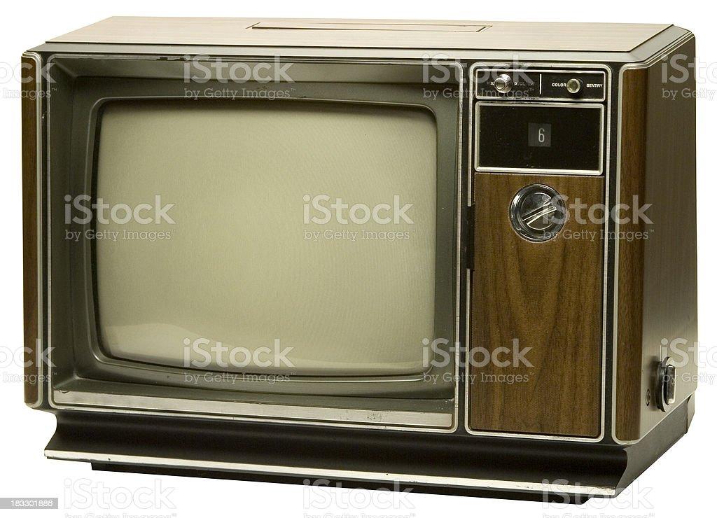 Isolated retro TV set royalty-free stock photo