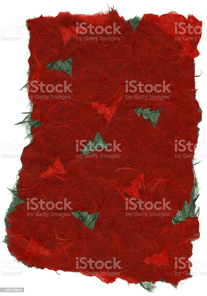 Isolated Rice Paper Texture - Christmas Red XXXXL royalty-free stock photo