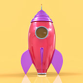 3D Isolated Rocket Background