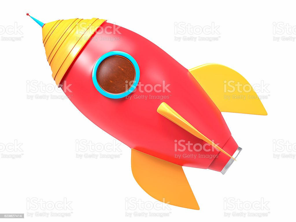3D Isolated Rocket Background stock photo