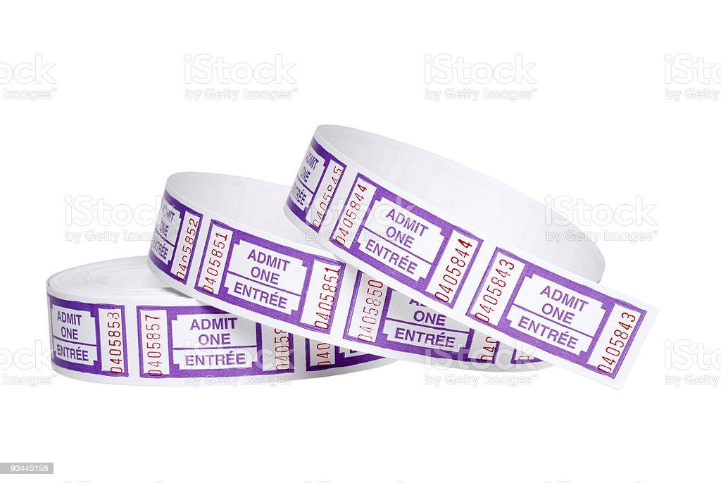 Isolierte Roll von tickets Lizenzfreies stock-foto