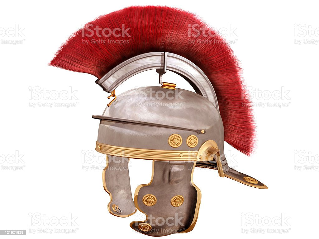 Isolated Roman Helmet stock photo
