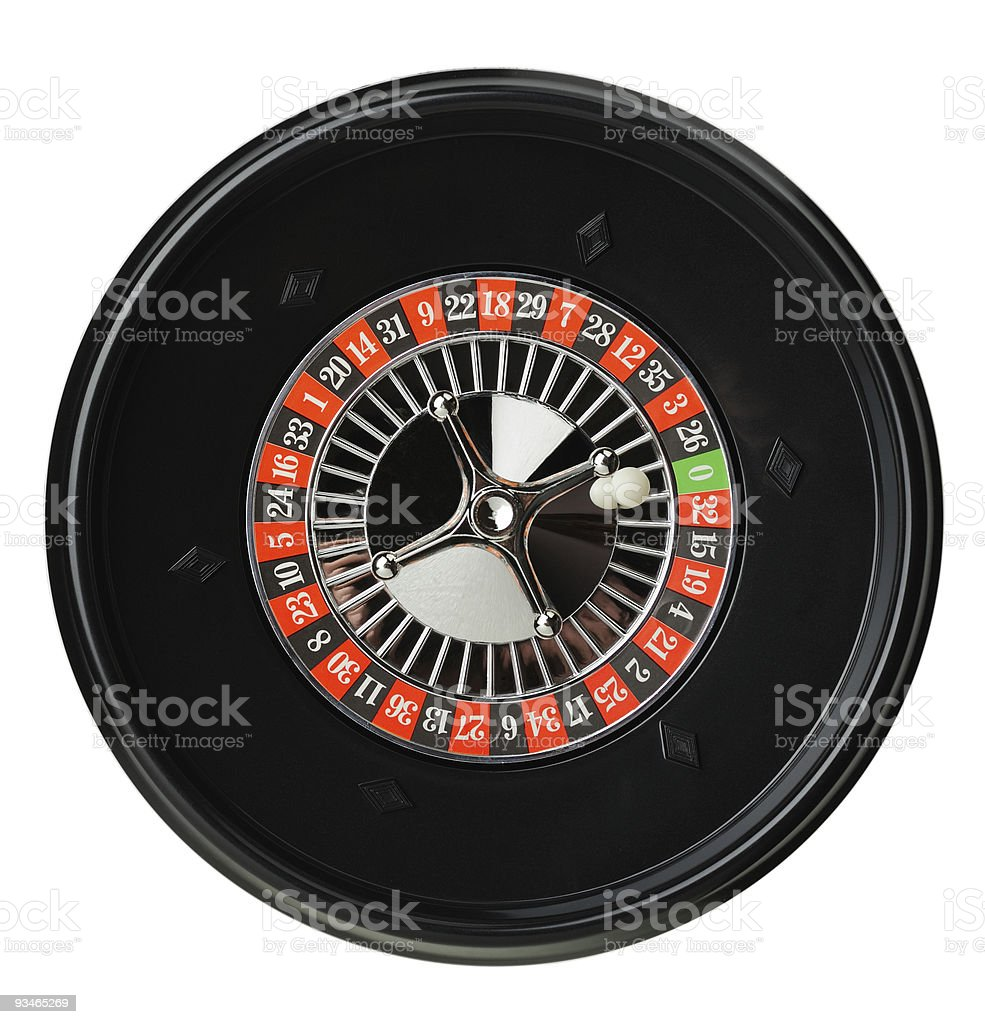 Isolated roulette royalty-free stock photo
