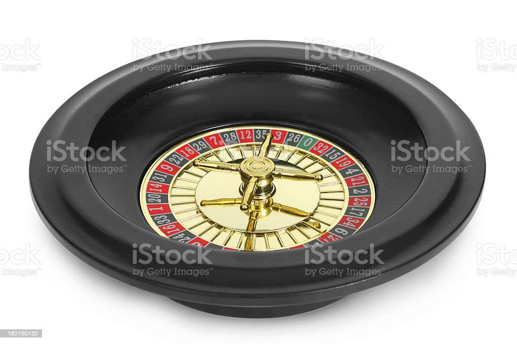 Isolated Roulette Wheel royalty-free stock photo