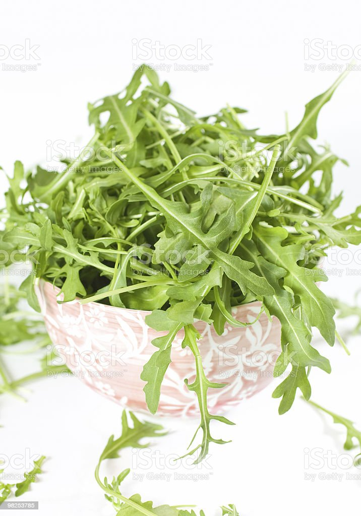 Isolated Rucola Leaves royalty-free stock photo