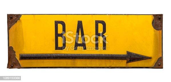 istock Isolated Rustic Metal Sign For A Bar 1089150066