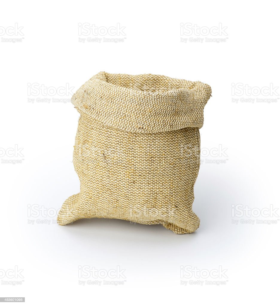 isolated sack bag on white royalty-free stock photo