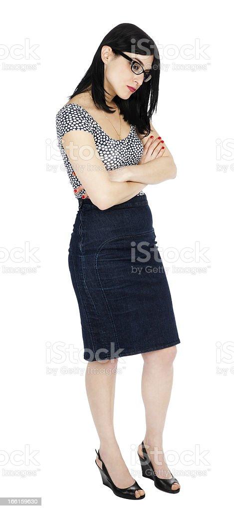 Isolated Sad 30's Woman stock photo