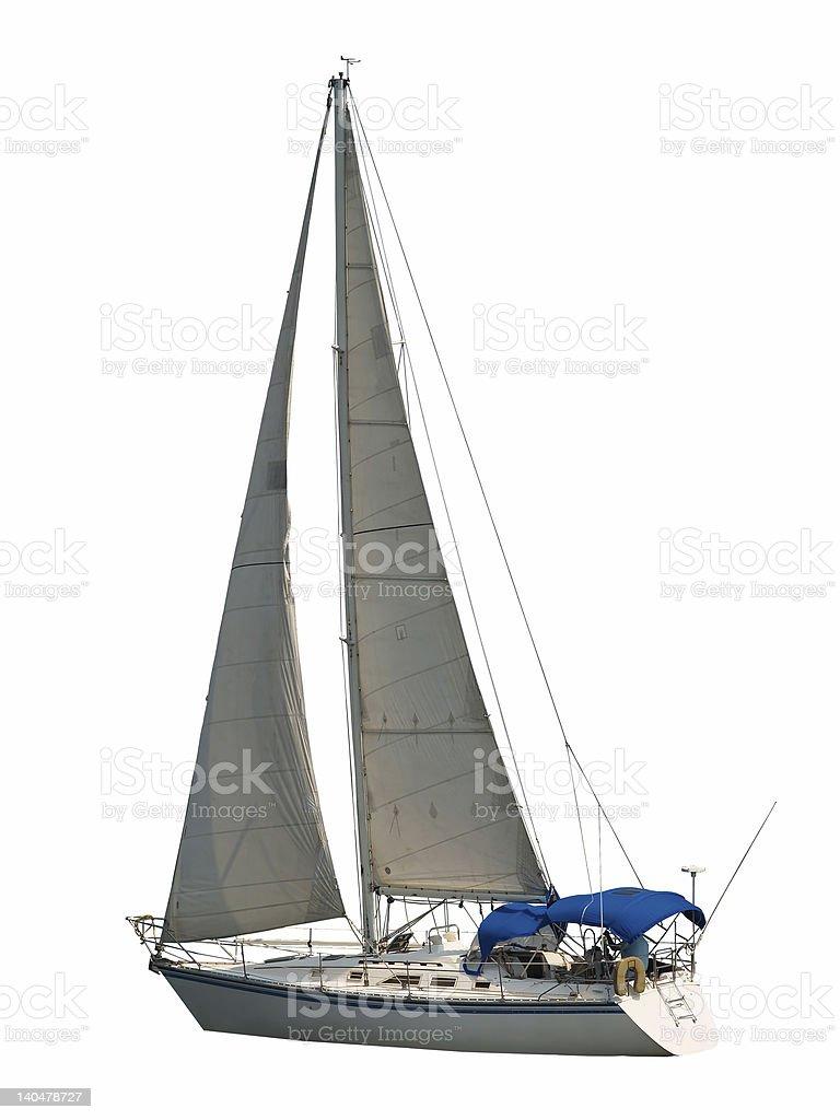 Isolated Sailboat royalty-free stock photo