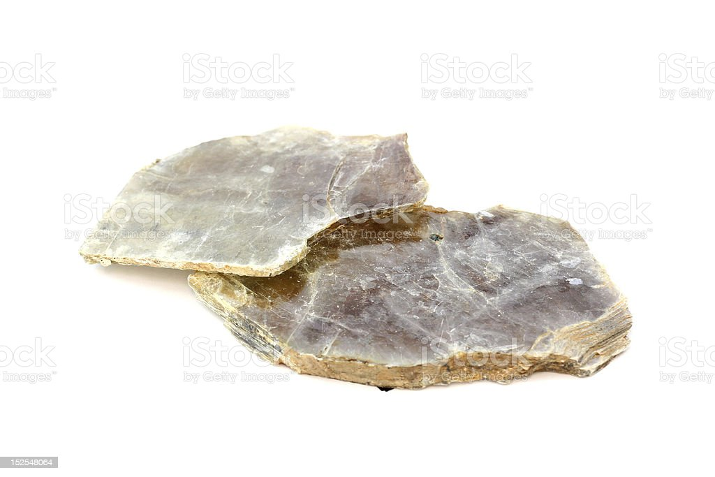 Isolated samples of Muscovite Mica royalty-free stock photo