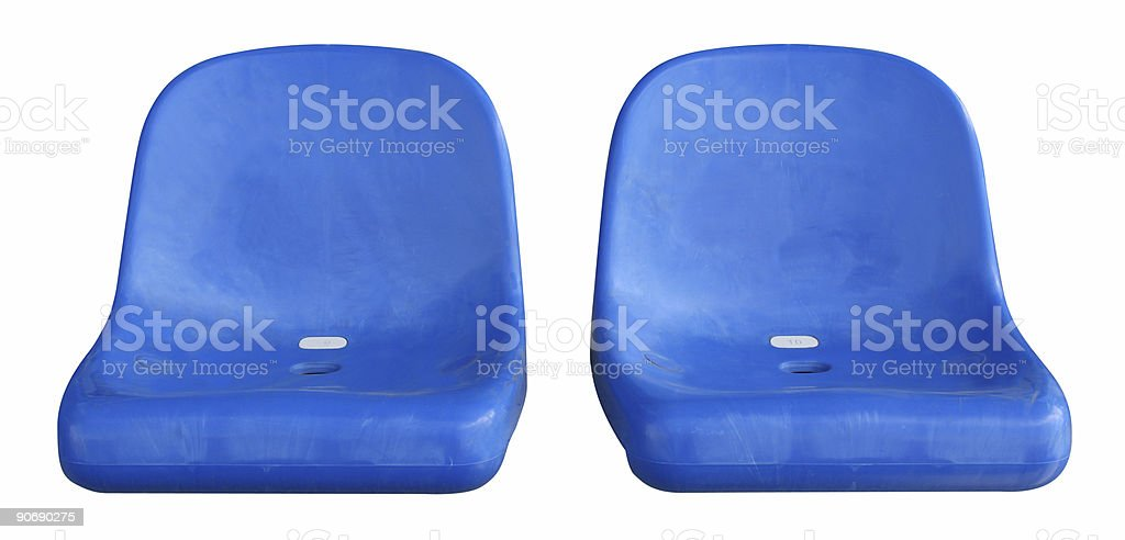 Isolated seats royalty-free stock photo
