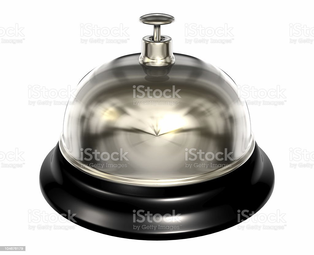 isolated service bell with clipping path royalty-free stock photo