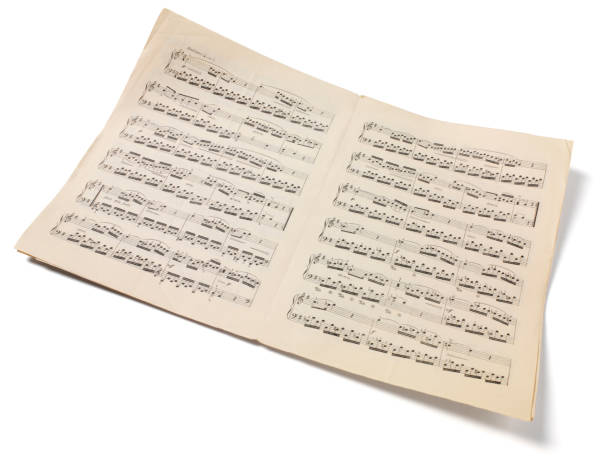 Isolated Sheet Music Sheet music isolated on white with clipping path. sheet music stock pictures, royalty-free photos & images