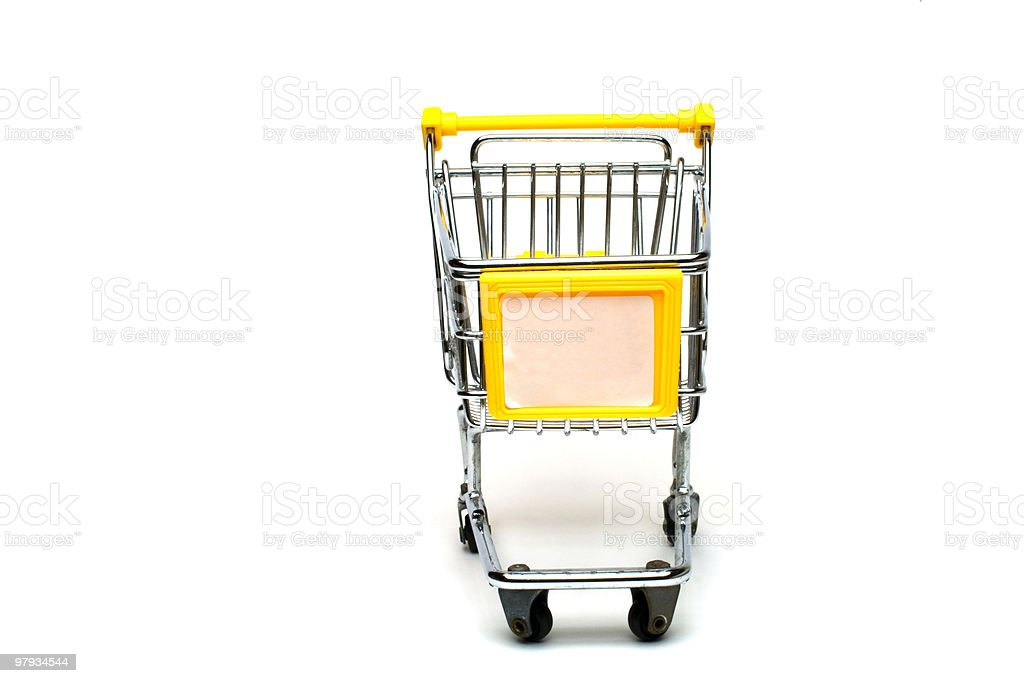 isolated shopping cart royalty-free stock photo