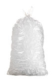 istock Isolated shot of bag of ice against a white background 1246695145