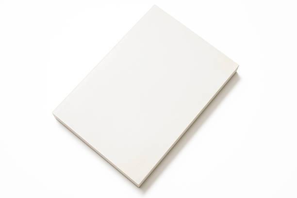 fotografia de livro em branco isolado no fundo branco - brochura - fotografias e filmes do acervo