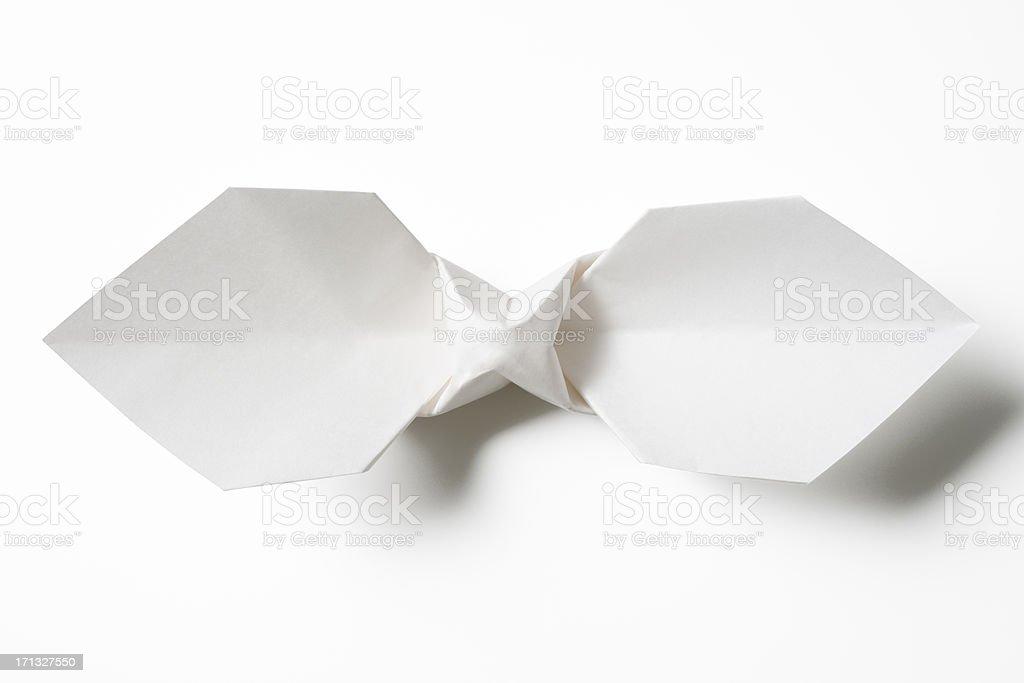 Weiße Origami-Fliege – Foto