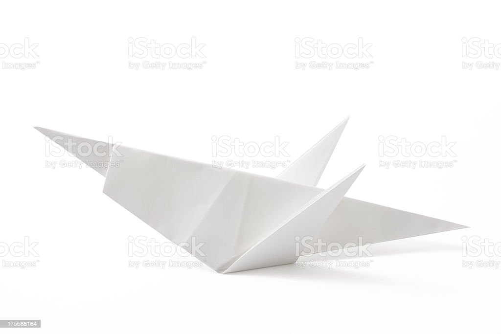 Isolated Shot Of Blank Origami Grasshopper On White Background Royalty Free Stock Photo