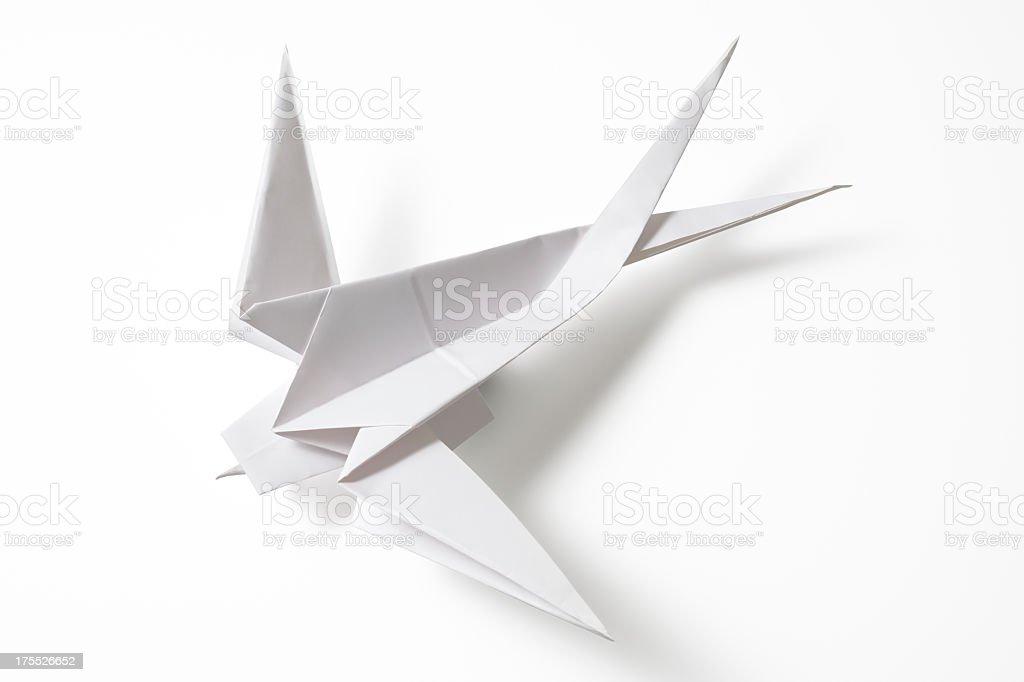 Origami swallow bird | Illustration with beautiful origami swallow ... | 682x1024