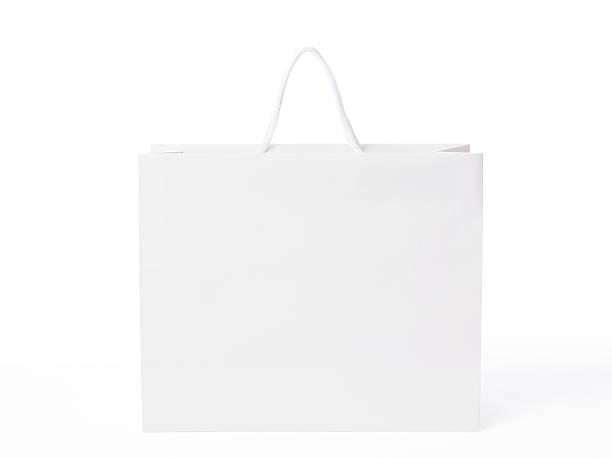 Imagen de blanco aislado sobre fondo blanco bolsa de la compra - foto de stock