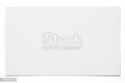 Blank white card isolated on white background with clipping path.