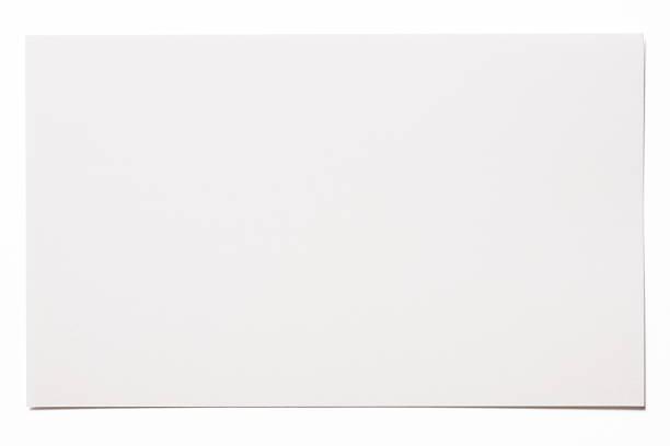 isolated shot of пустым белая карта на белом фоне - письмо документ стоковые фото и изображения