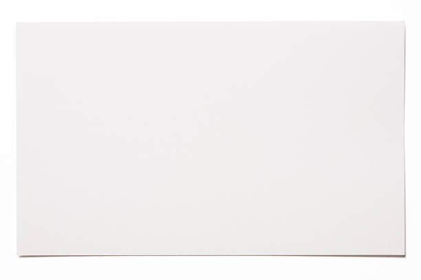 isolated shot of blank white card on white background - 信 文件 個照片及圖片檔