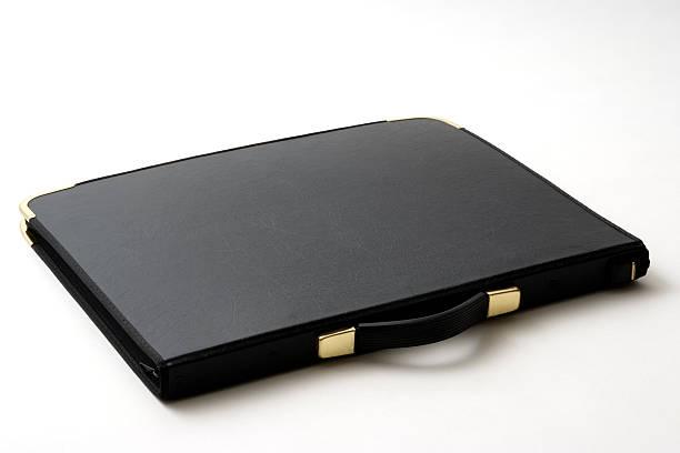 Isolé photo de fermeture portefeuille sur fond blanc noir - Photo